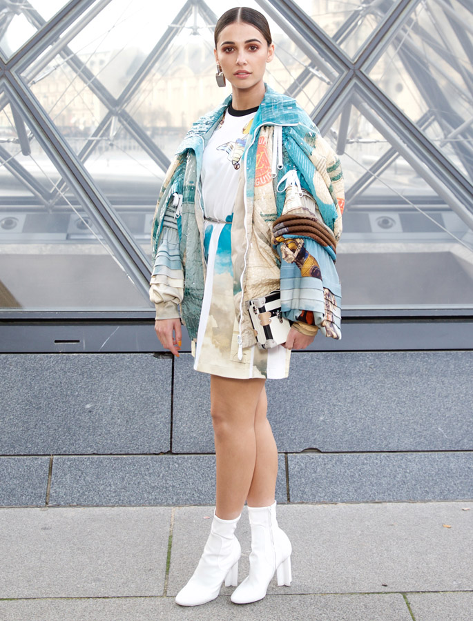 naomi scott indya moore Louis Vuitton fall winter 2019 show