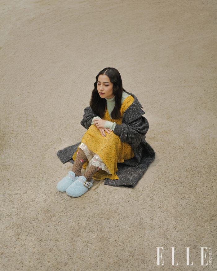 Nikita Willy for ELLE Indonesia October 2021 photography Vicky Tanzil styling Ismelya Muntu fashion Coach makeup Rommy Andreas hair Jooe Yunedi